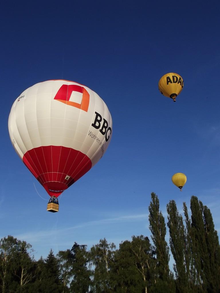Drei Ballone in der Luft