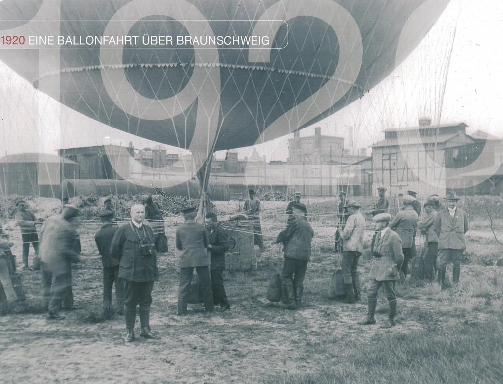 1920 Ballonfahrt über Braunschweig
