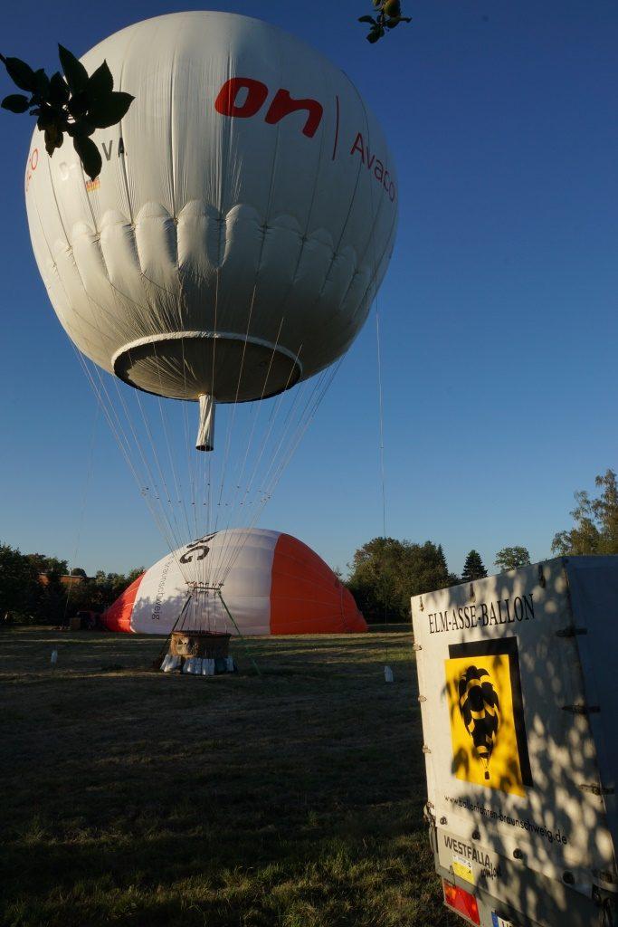 Gasballonfahrt Aufbau