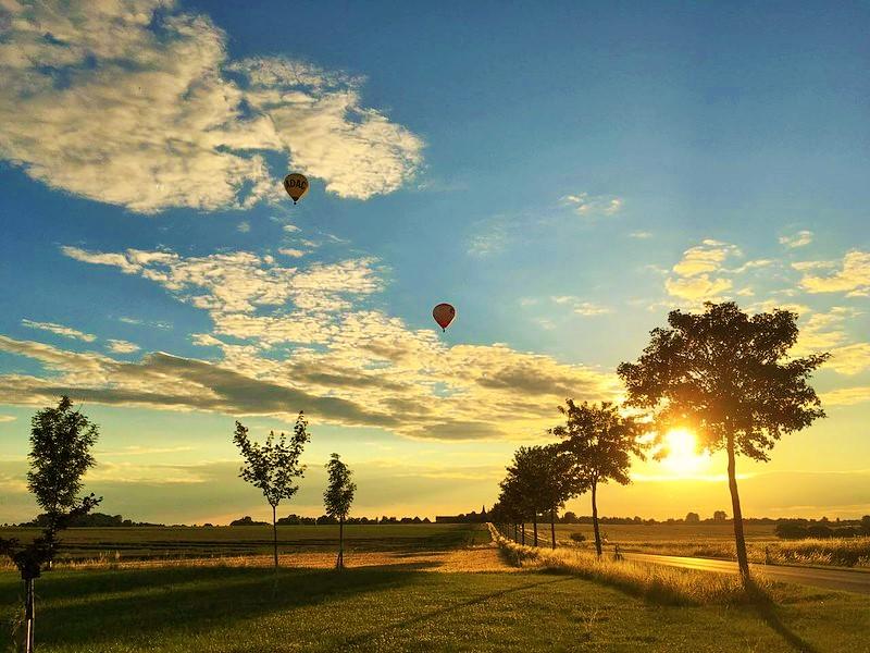 Ballonfahrt zwei Ballone