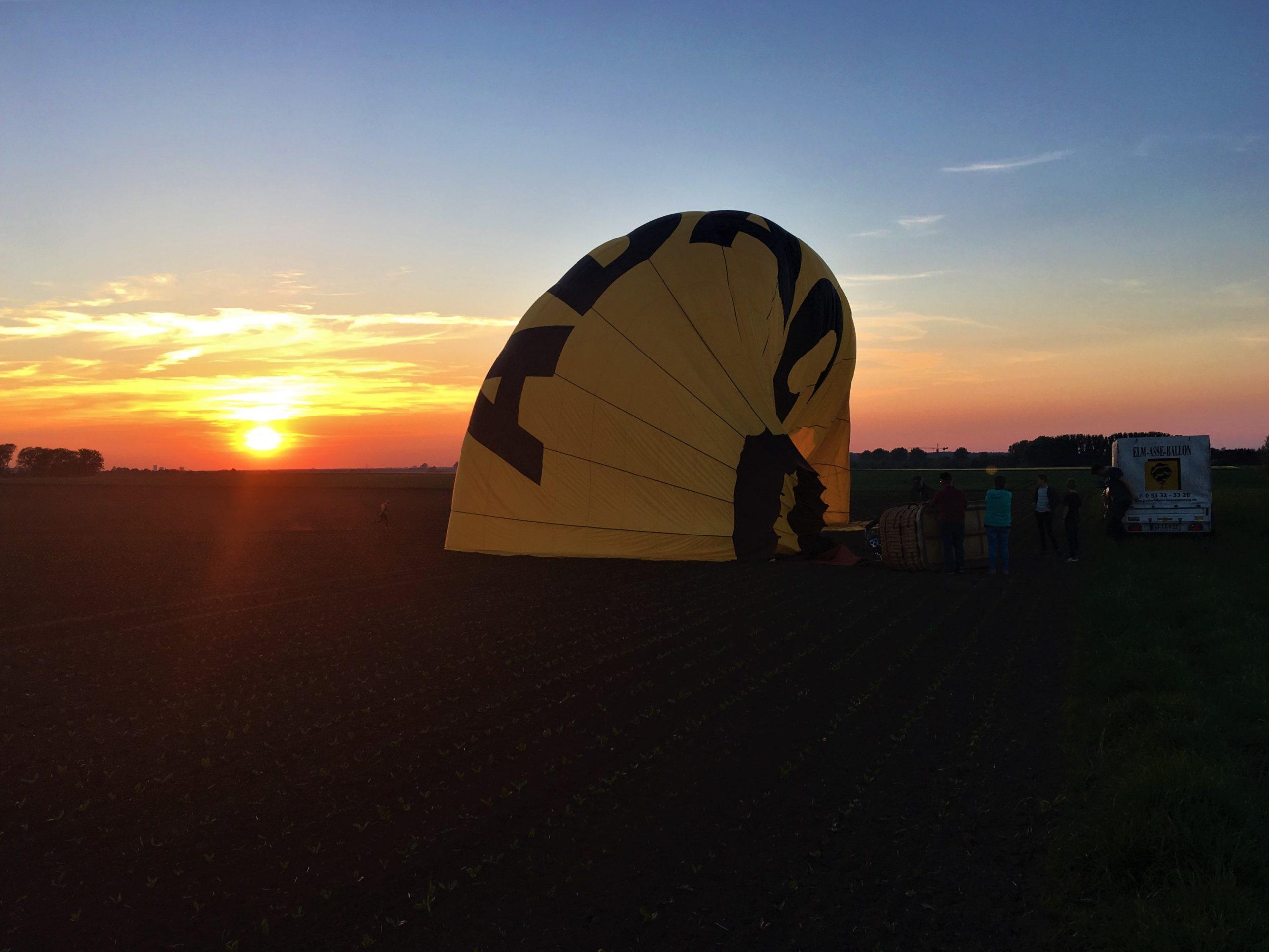 Landung Sonnenuntergang